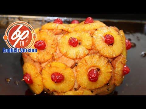 Ham With Pinapple Glaze - Puerto Rican Style