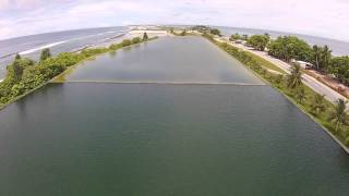 Drone flyover of freshwater reservoirs on Majuro Atoll, Marshall Islands
