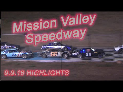 Mission Valley Speedway Sept 9, 2016 Hobby and Bando Highlights