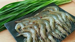 Prawns don't be fried, add a leek, don't cook, steam or fry, and get robbed on the table!