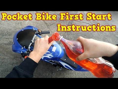 Pocket Bike 50cc - First Start Instructions - Mini Moto 49cc