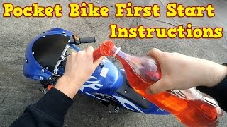 Pocket Bike 50cc - First Start Instructions - Mini Moto 49cc