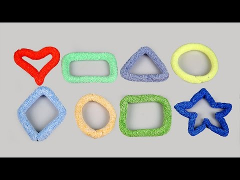 Learn Shapes with Squishy Glitter Foam | Learn Shapes for kids | Shapes Song for kids
