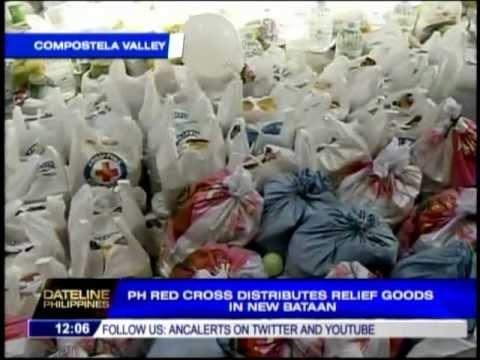 PH Red Cross distributes relief goods in New Bataan
