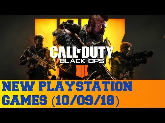 New PlayStation Games for October 9th 2018