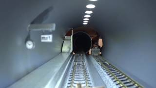 Nゲージ、車載カメラ、地下へ、地下鉄走行完成版