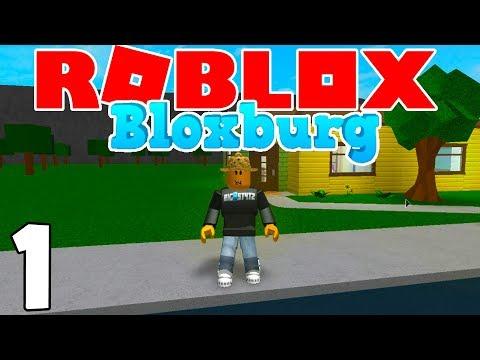 MY FIRST HOUSE & NEW JOB! | Roblox BloxBurg | Ep.1