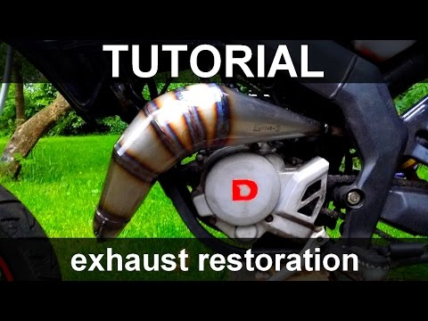 Exhaust restoration - TUTORIAL *restore 2 stroke pipe*