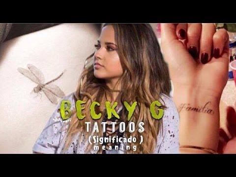 becky g tatuajes