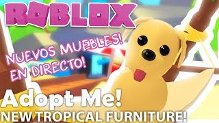 *NEW* TROPICAL FURNITURE *UPDATE* ADOPT ME 🏝️ . . . . . . . . . . . . . . . . . . . . . . . . . . . . . . ROBLOX IN ENGLISH