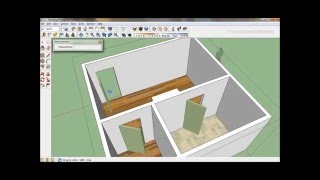 Sketchup How to Draw a Simple 20' x 20' Bedroom 1 of 2