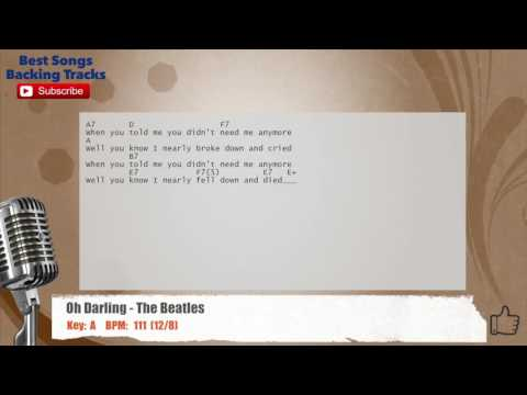 Oh Darling - The Beatles Vocal Backing Track with chords and lyrics