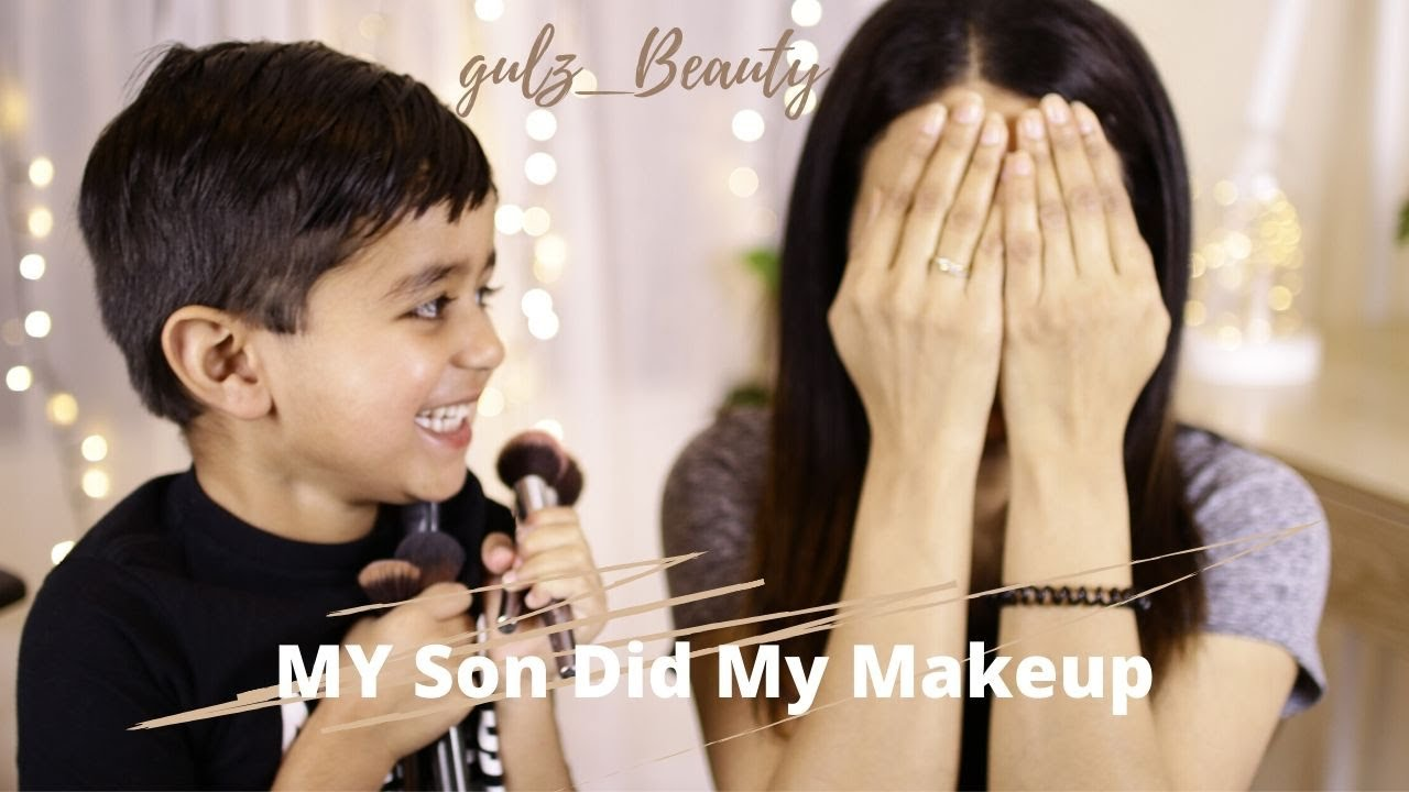 My 4 years Old Son 👶Does My Makeup 🤣|My Son Does My Makeup| Gulz_Beauty