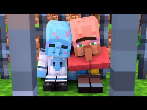 Alien & Villager Life 4 - Minecraft Animation