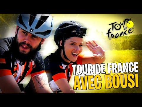 On fait les 20 derniers kilomètres du Tour de France avec @LeBouseuh 🚲(il est trop fort!!)