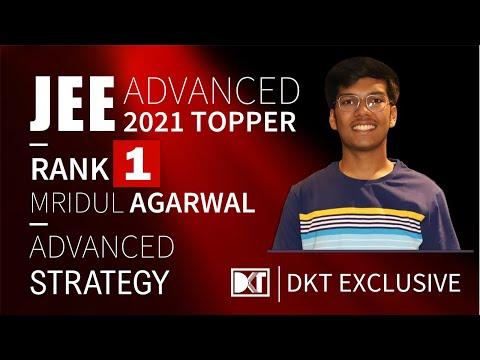 Rank 1 JEE Advanced 2021 | Mridul Agarwal's Strategy | रैंक 1 जेईई एडवांस्ड 2021 मृदुल की स्ट्रेटेजी