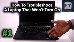 How To Fix or Troubleshoot a Laptop That Won't Turn On [#1]