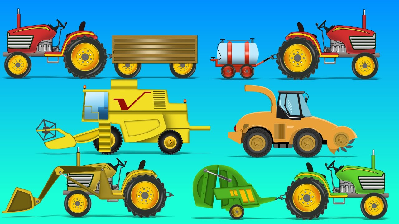 Farm Vehicles Baby Videos Learn Vehicles Name Youtube