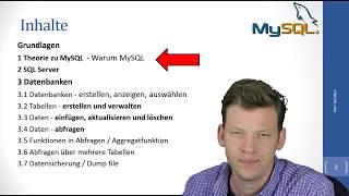 01 Einstieg Videoserie zu MySQL - wie geht MySQL / SQL einfach erklärt!