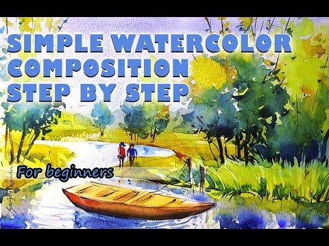 SIMPLE WATERCOLOR COMPOSITION  BY SANJAY KUNDU