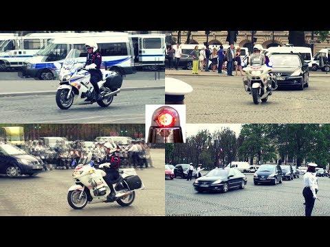 Police Motorcycle Escorts VIP Paris [2011] (compilation)