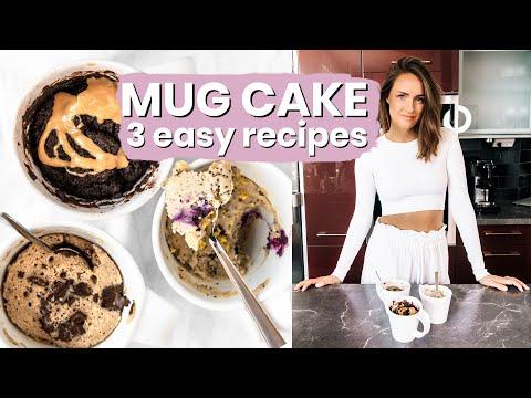 MUG CAKE VEGAN - 3 Recipes (Easy, Quick)
