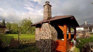 Krb do altánku s kamenným obkladom - stavba murovaného krbu