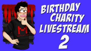 Birthday Charity Livestream | Part 2 | HAPPY WHEELS AND MINECRAFT