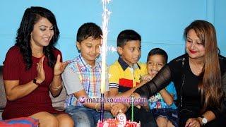 Anuvab Regmi Birthday celebration || अनुभवलाई झरनाले दिईन् चलचित्र उपहार || Mazzako TV