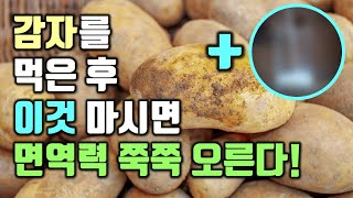 감자를 먹고 이것을 마…