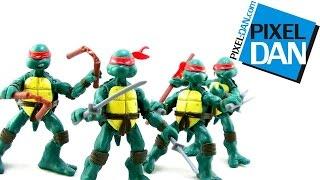 Nickelodeon Teenage Mutant Ninja Turtles Comic Book Turtles Figure Video Review