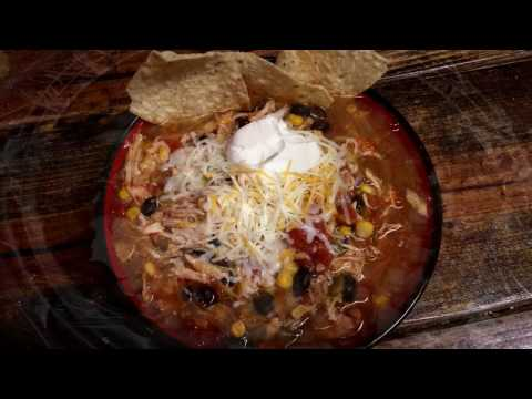 Chicken Enchilada Soup in the Slow Cooker