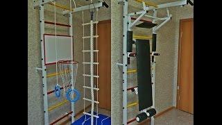 видео Спортивный комплекс для детей для дома: выбор и установка. Детские спортивные уголки в квартиру