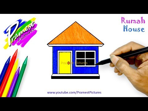How To Draw a House - Coloring Pages For Kids