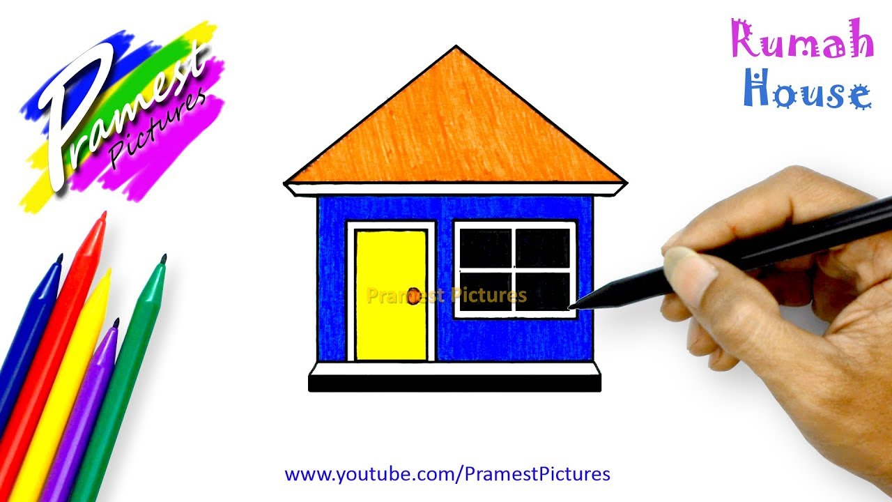 How To Draw A House Coloring Pages For Kids