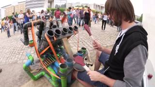 Repeat youtube video Awesome Pipe-Drummer | PipeDrumz | Neon Pipe Drummer