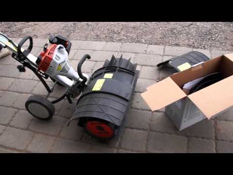 Our Stihl Yard Boss Cultivator with a new Power Sweeper from YouTube · High Definition · Duration:  7 minutes 29 seconds  · 430,000+ views · uploaded on 6/7/2013 · uploaded by ReefDVMs