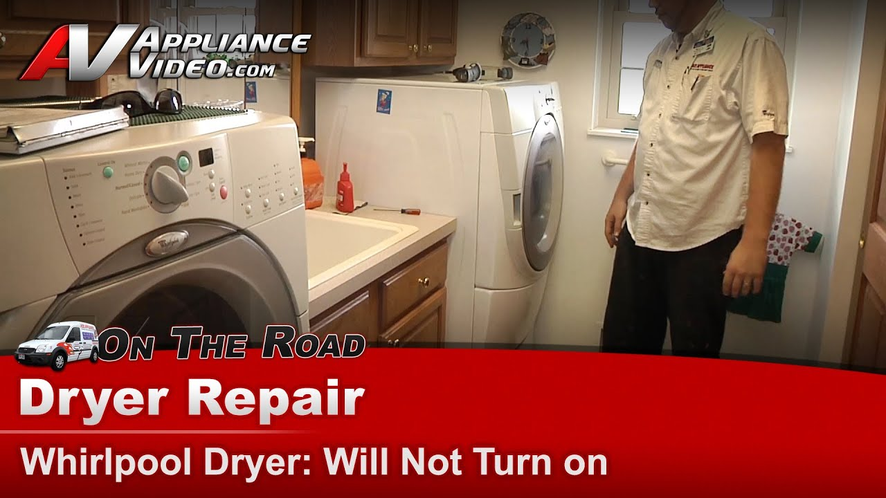 dryer repair will not start whirlpool maytag kitchenaid sears kenmore roper [ 1280 x 720 Pixel ]