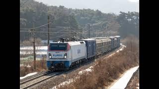 코레일 8529호 유개 화물열차 유교신호장 통과