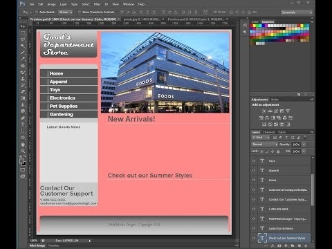 Create a Div Based Website Using PS and DW: Part 3