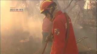 Incêndio em Évora exigiu a presença de um meio aéreo