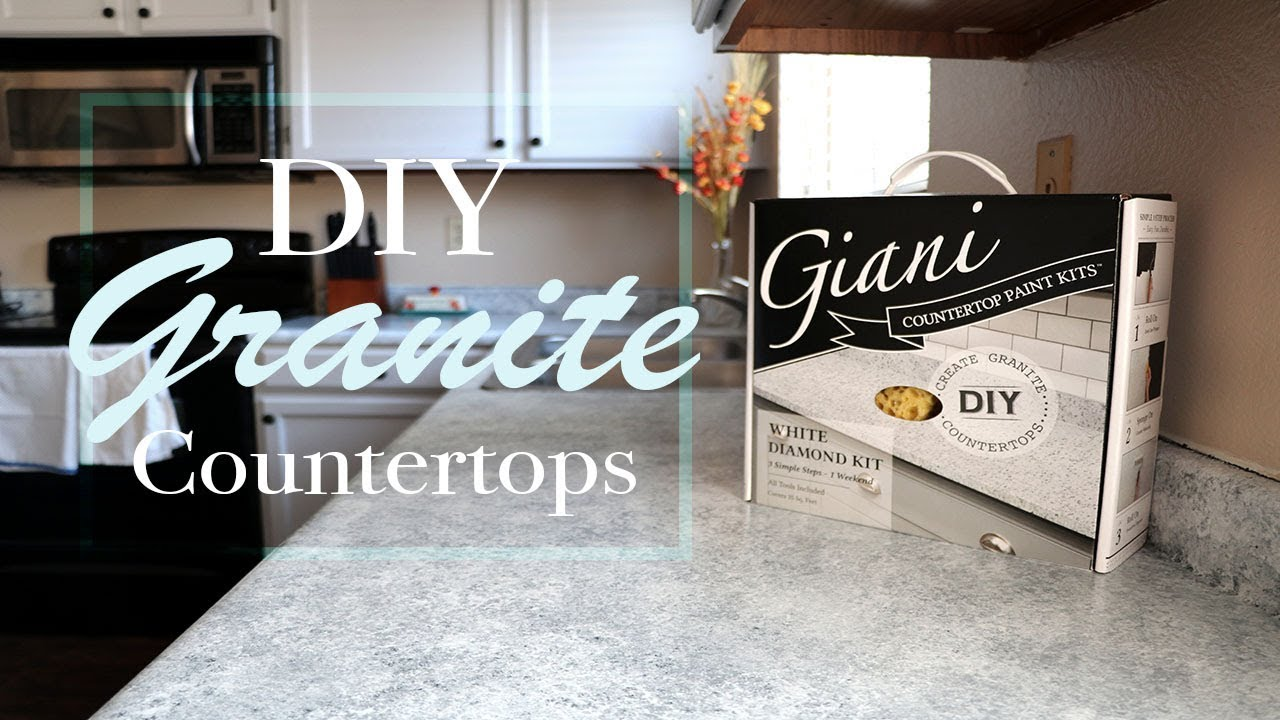 Diy Granite Countertop Giani How To Tutorial And Review With 3 Month Follow Up Youtube