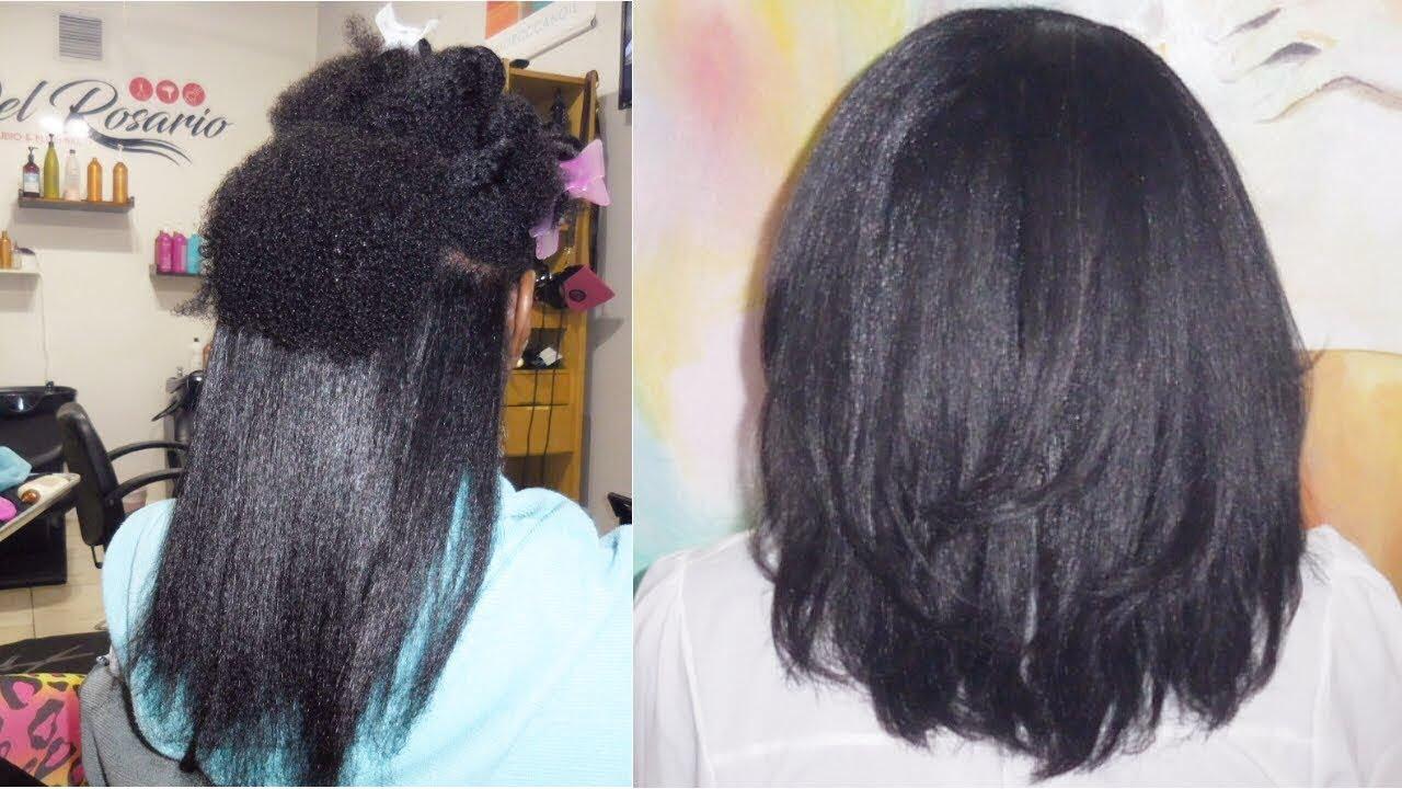 blowout natural 4c hair