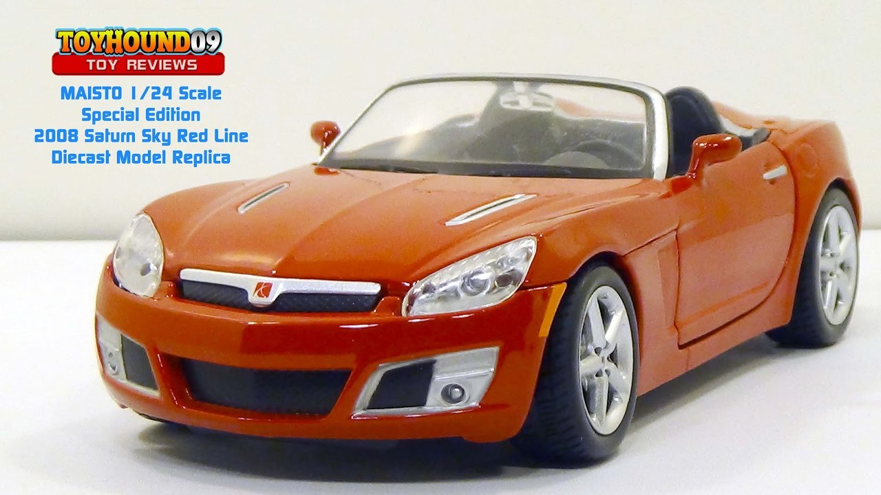 Perfect Maisto Special Edition 1/24 Scale   2008 Saturn Sky Red Line, Diecast Car  Review