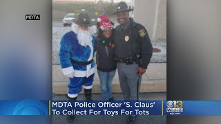 MDTA Police Officer 'S. Claus' To Collect For Toys For Tots