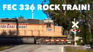 Florida East Coast Railway Rock Unit Train 336