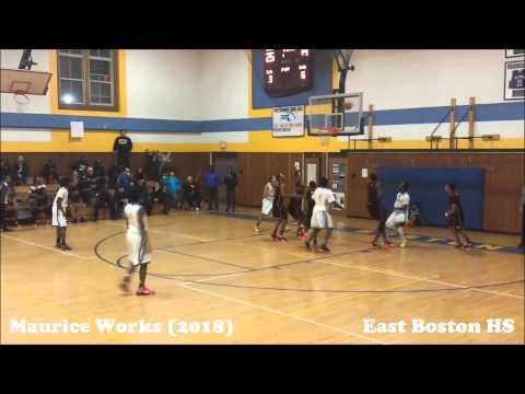 East Boston High Freshman MAURICE WORKS shows why he