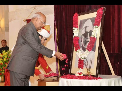 President Kovind paid floral tributes to former President Dr Zakir Hussain on his birth anniversary