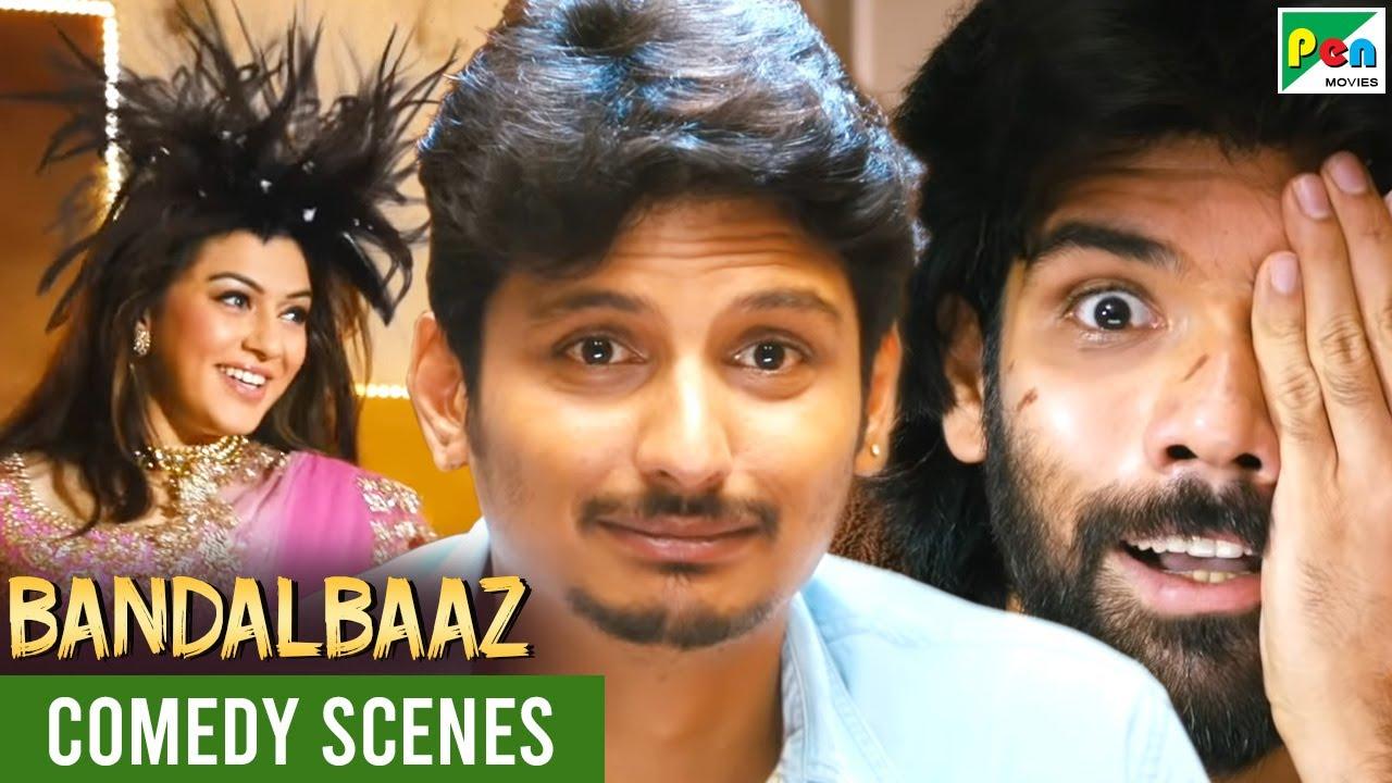संजीव - सुनीता - बैक टू बैक फनी कॉमेडी सीन   Bandalbaaz   Hindi Dubbed Movie  Jiiva, Hansika Motwani