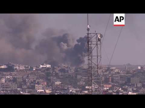 Israeli airstrike in Gaza after rocket fired